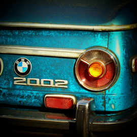 2002  by William Thielen - Transportation Automobiles ( tail light, urban, icon, emblem, seattle, blue, 2002, bmw )