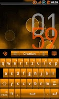 Screenshot of GOKeyboard Theme -SunsetOrange