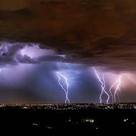 Perth attack by Craig Eccles - News & Events Weather & Storms ( clouds, thunder, lightning strike, lightning storm., storm, city, lightning, sky, thunder strike, lightning bolt, thunder and lightning, weather, cloud, thunder storm, thunder bolt )