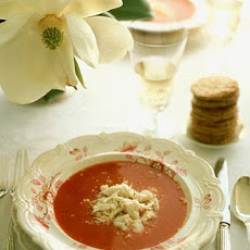 Chilled Bloody Mary Soup with Crabmeat