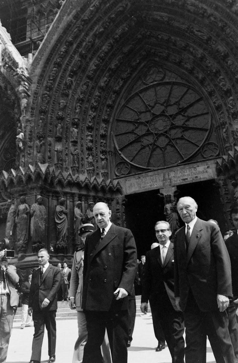 Adenauer in Reims, 1962.