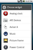Screenshot of Avisar A Widget