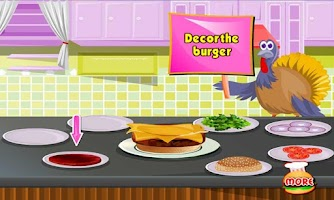 Screenshot of Turkey Burger Cooking Day