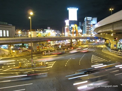 Ueno highway - train station on the far left