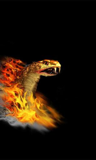 Burning Snake Live Wallpaper