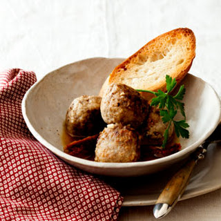 Meatballs in White Wine Sauce with Rustic Bread