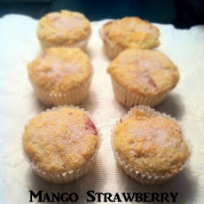 Mango Strawberry Muffins