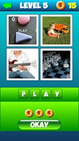 Screenshot of Whats The Word: 4 pics 1 word