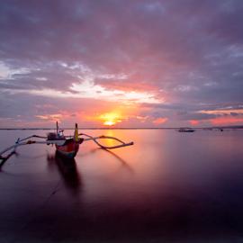 Untitled by Choky Ochtavian Watulingas - Landscapes Waterscapes ( shore, sky, cloudy, cloud, seascape, sunrise, sun rays, sun )