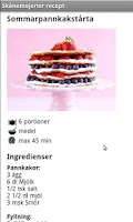 Screenshot of Skånemejerier recept