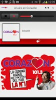 Screenshot of Radio Corazón for Android