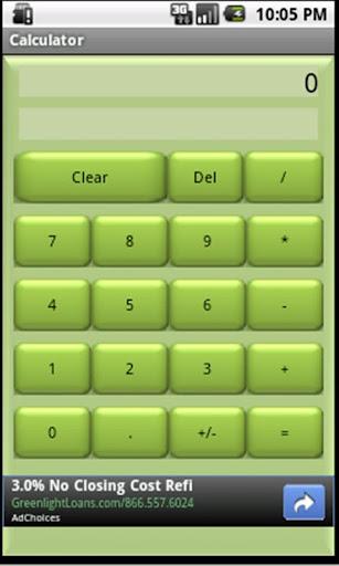 Basic Calculator Green