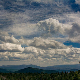 Sunny and Cloudy - Beautiful cloud formation in Truckee, CA after light (heavy some part) rain by Sam Okamoto - Landscapes Cloud Formations