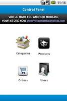 Screenshot of VirtueMart Admin