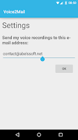 Screenshot of Voice2Mail