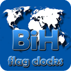 BiH flag clocks icon