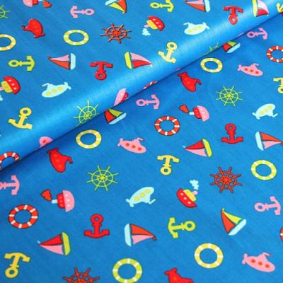 acheter tissu de coton la marine fond bleu roubaix chez tissus papi dilengo. Black Bedroom Furniture Sets. Home Design Ideas