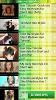 Screenshot of Styles for Short Hair