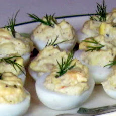 Linda's Shrimp Stuffed Eggs