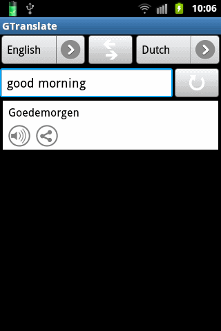 gtranslate-translator for android screenshot