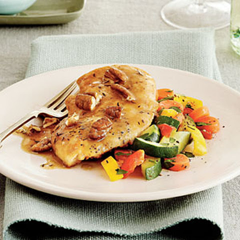 Chicken Cutlets with Lemon Sage Brown Butter Sauce