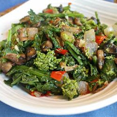 Broccoli Rabe with Portobello Mushroom