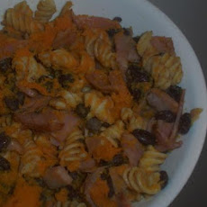 Black Bean Butternut Squash and Ham Pasta - Gluten / Lactose Fre