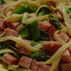 Capellini with Ham and Asparagus