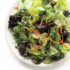 The Ultimate Salad Mix with Carrot, Cucumber, and Balsamic Vinaigrette