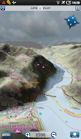 Screenshot of Outdoor und Wander- Navigation