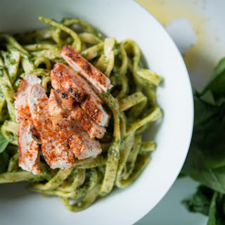 Cajun Chicken and Pesto Paleo Pasta