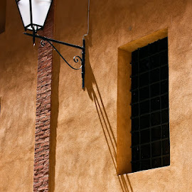 Perfect side lighting on a Tuscan wall. by Gale Perry - Buildings & Architecture Architectural Detail (  )