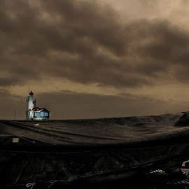 The fairy tale ..!! by Kshitij  Saxena - Landscapes Weather ( water, fairy tale, sunset, snow, lighthouse, weather, boat, abandoned,  )