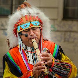 Music is his life.. by Kadek Korek - People Musicians & Entertainers
