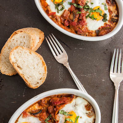 Ratatouille Baked Eggs