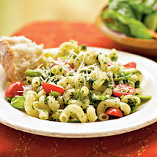 Fava Beans with Pesto and Cavatappi