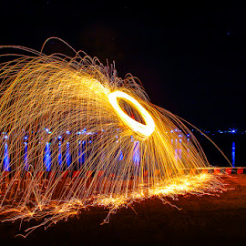 Captain Shield by Brain Langelo - Abstract Light Painting