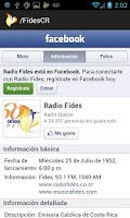 Screenshot of Radio Fides