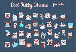 Screenshot of CoolKitty Solo Theme