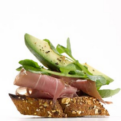 Prosciutto & Avocado Crostini