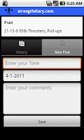 Screenshot of StrengthDiary