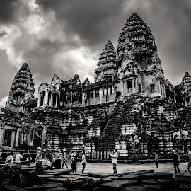 Part of Angkor Wat Temple.  by Yi Yeang Raksmey - Buildings & Architecture Public & Historical