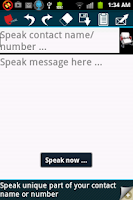 Screenshot of Hands free speech SMS/text Pro