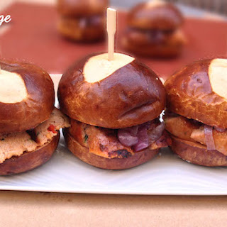 Chicken Sausage Sliders with Caramelized Onions