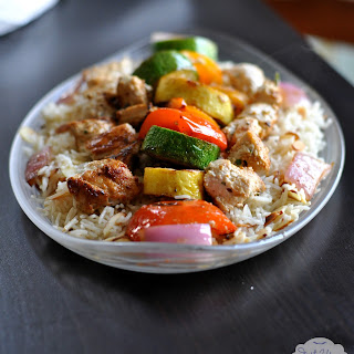Yogurt Marinated Chicken with Almond Basmati #SuccessRice