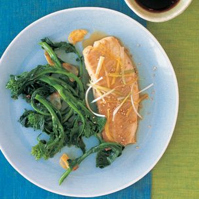 Steamed Tilapia with Sesame Seeds, Ginger and Green Onion