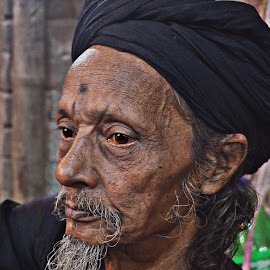 Divine Introspection by Arnab Bhattacharyya - People Portraits of Men