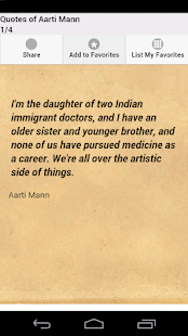 Quotes of Aarti Mann - screenshot