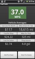 Screenshot of FuelTrack