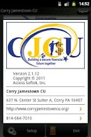Screenshot of Corry Jamestown CU